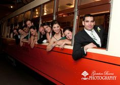 There are so many opportunities for fun wedding photos around Union Terminal's History of Cincinnati museum!