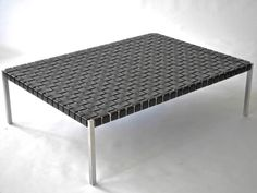 In the Style of Katavolos, Littel & Kelly Stainless Steel & Leather Bench 3