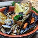 Zuppa di legumi e pesce, mari e monti