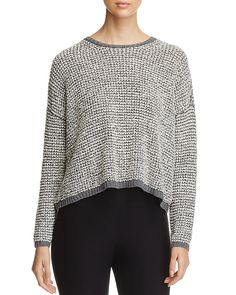 178.50$  Buy here - http://vioka.justgood.pw/vig/item.php?t=8q8vmq37610 - Eileen Fisher Petites Cropped Popcorn Knit Sweater