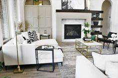 Excellent Screen Fireplace Remodel grey Thoughts Living Room Refresh l Living room White living room Modern living room Contemporary living room Liv Modern White Living Room, Modern Contemporary Living Room, White Rooms, Living Room Grey, Modern Room, Home Living Room, Living Room Decor, Living Room Update, Living Room Area Rugs