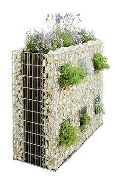 gabion vertical garden - Garden Chic