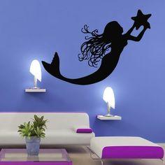 Wall Decal Vinyl Sticker Decals Art Decor Mermaid Deep Sea Animal Water Nymph Nature Fish Nursery Kids Children Bedroom Star Tail Cartoon Girl (M287) Crystal Emotion http://www.amazon.com/dp/B013W8G6OU/ref=cm_sw_r_pi_dp_cUUbxb17PD361