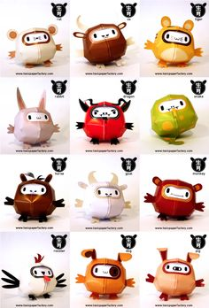 Blog_Paper_Toy_papertoys_Chinese_Zodiac_Animals_pic2