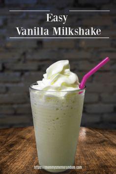 Easy Vanilla Milkshake Recipe to Satifsy the Cravings or Just Indulge Looking for an Easy Vanilla Milkshake Recipe for that craving or delicious dessert? This milkshake recipe is a keeper. It's so easy, Related posts: Classic vanilla milkshake Ice Cream Milkshake Recipe, Malt Milkshake, Homemade Milkshake, Healthy Milkshake, Ice Cream Recipes, Vanilla Shake Recipes, Chocolate Milkshake, Milkshake Blender, Milk Shakes