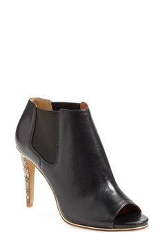 i love these coach adrianna leather peeptoe booties // on sale now during Nordstrom's Anniversary Sale of all new pre-fall and fall products!