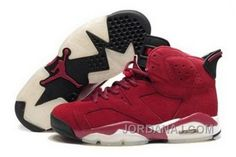 save off 164dd 39cde Men Air Jordna 6 Retro Shoes 02 Wine Red Black Jordan Shoes For Sale,  Jordans
