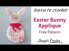 Easter Bunny Applique Free Crochet Pattern - Right Handed - YouTube