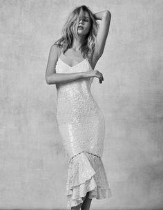 4 Ways Bridal Designers are Redefining Sexy Slip Wedding Dress, Second Wedding Dresses, Most Beautiful Wedding Dresses, Wedding Dress Trends, Sexy Wedding Dresses, Bridal Dresses, Sequin Wedding, Sexy Gown, Autumn Fashion 2018
