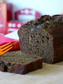 Chocolate Zucchini Bread |   I have enough zucchini for an army so I wanted to give this a try...and I did not love it.  It looked just like the picture, but had kind of a bland taste.  It made the house smell good though.