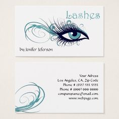Lashes Business Card - pattern sample design template diy cyo customize