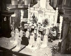 Sisters of Providence entering the Novitiate, 1950