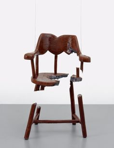 """Urs Fischer (Swiss: 1973) - """"Chair for a Ghost: Thomas"""" Cast aluminum, enamel paint, lacquer, wire 2003"""