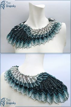 "Necklace ""Petrel"" by Ann Braginsky. Featured ""Eye Candy"" on Sova Enterprises.com Newsletter."