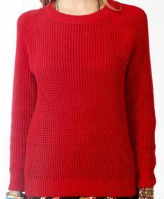 Chunky Knit Raglan Sweater $24.80