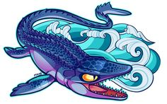 mosasaurus cartoon - Google Search