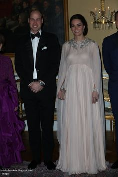 Duchess Kate: The Duchess in Flowing McQueen Gown and the Queen's Jewels for Glittering Dinner!