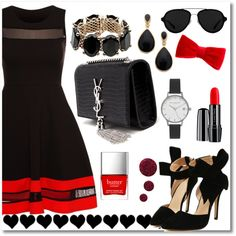 A fashion look from December 2015 featuring Yves Saint Laurent shoulder bags, Valentino bracelets and Olivia Burton watches. Browse and shop related looks.