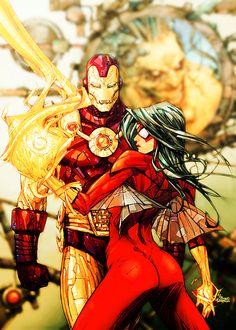Iron-Man & Spider-Woman