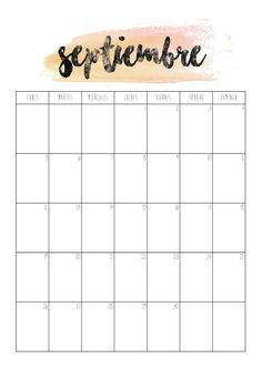 Calendario Septiembre 2016   Primer día de septiembre preparadas para el nuevo curso?  Imprime el calendario y empieza el mes organizada. Os recuerdo que ya podéis conseguir la agenda de 2016-2017 en el blog. Bujo, Diy Agenda, Calendar Wallpaper, Bullet Journal, Wallpaper Downloads, Weekly Planner, Homeschool, Creations, Scrapbook