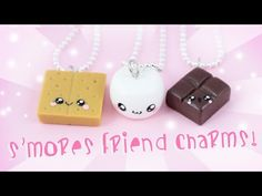 DIY S'mores Friendship Charms Polymer Clay Tutorial