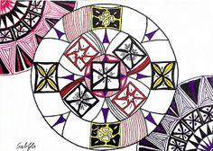 Lieschens-Bilder: Zentangle 281  Challenge Muster Mixer # 8