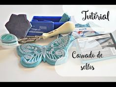 Tutorial carvado de sellos, cómo hacer sellos personalizados - YouTube Stencil, Decoupage, Stamp Carving, Handmade Stamps, Stamp Printing, Texture Design, Paper Gifts, Textile Prints, Fabric Painting