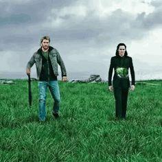 I love how Thor is super dramatic while Loki is like slo mo epicness Marvel Avengers, Marvel Dc Comics, Heros Comics, Marvel Gif, Marvel Jokes, Marvel Funny, Marvel Heroes, Mundo Marvel, Loki Laufeyson