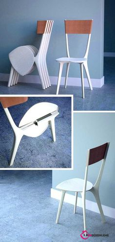Stylish and Modern Origami Furniture Samples - Diy Möbel Folding Furniture, Origami Furniture, Space Saving Furniture, Plywood Furniture, Unique Furniture, Furniture Design, Folding Chairs, Bedroom Furniture, Furniture Ideas