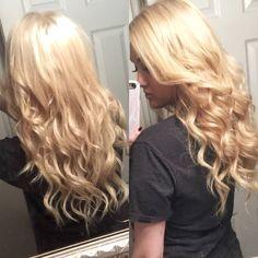 Long blonde hair with love lights! I love the hair I do! #kayshairr #hair