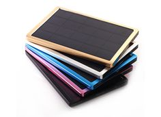 10000mah luxury solar charger with USB Adapters