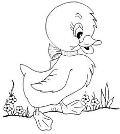 Puppy Coloring Pages, Bird Coloring Pages, Coloring Pages For Kids, Coloring Books, Cartoon Drawings, Cute Drawings, Animal Drawings, Embroidery Patterns, Hand Embroidery