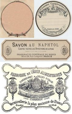 Pretty French Vintage Labels, Free Printable by Gail Carrington Vintage Tags, Shabby Vintage, Vintage Labels, Vintage Ephemera, French Vintage, Printable Labels, Printable Art, Free Printables, Labels Free