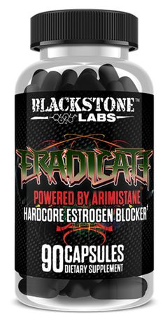 Blackstone Labs Eradicate Estrogen Blocker Arimistane - 90 Capsules for sale online Blackstone Labs, Card Io, Bodybuilding, Muscle, Ufc, Health, Athlete, Count, Motivation