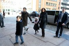 Crown Princess Mary with family