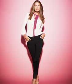 Now £16!  Very easy to wear for smart look.  Lipsy Skinny Trousers
