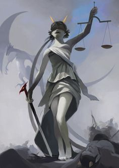 terezi as goddess of justice (themis)