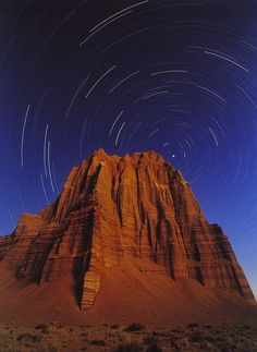 The North Star hangs in the spring sky above the Temple of The Sun, Cathedral Valley, Capitol Reef National Park, Utah Capitol Reef National Park, National Parks, Moab Utah, Gods Creation, Ancient History, Natural Beauty, Cathedral, Temple, Earth