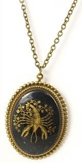 Vintage Cancer Cameo Necklace by TashaHussey on Etsy, $42.00