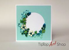 Paper Quilling Handmade Flower Greeting Card for Any Occasion by TipTopArtShop