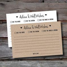 Wedding Advice Cards - Packs of 25-150 - Advice for the Bride & Groom