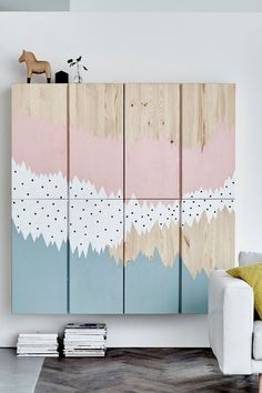 We've seen the world do a lot with the IKEA IVAR cabinet because it's a DIY dream. Untreated solid pine makes for lots of possibility with paint, stain, drills and screws. Click here to check out the most creative ways we've used IVAR in the past.