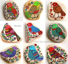 Sehnaz Bac Birds on pebbles