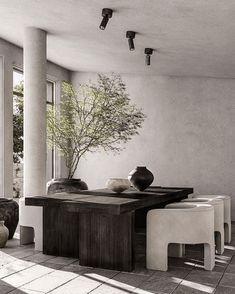 Ibiza, Neutral Kitchen Designs, Outdoor Restaurant, Open Concept Kitchen, Interior Stylist, Dining Room Design, Dining Area, Scandinavian Modern, Small Living Rooms