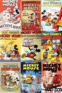 Vintage Mickey Mouse Posters.