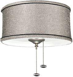 0-033312>2-Light Ceiling Fan Light Kit Kohiba Pewter
