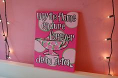 Sorority Open Motto Canvas by thebrokesororitygirl on Etsy, $20.00