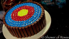 Archery cake made from sweets!