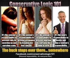 conservatism and women's responsibilities They can take this and shove it up their sexist asses!
