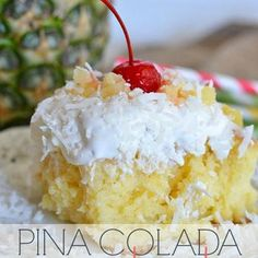 Pina Colada Poke Cake; FOURTH OF JULY DESSERT FOR PARTY?! I THINK YES!